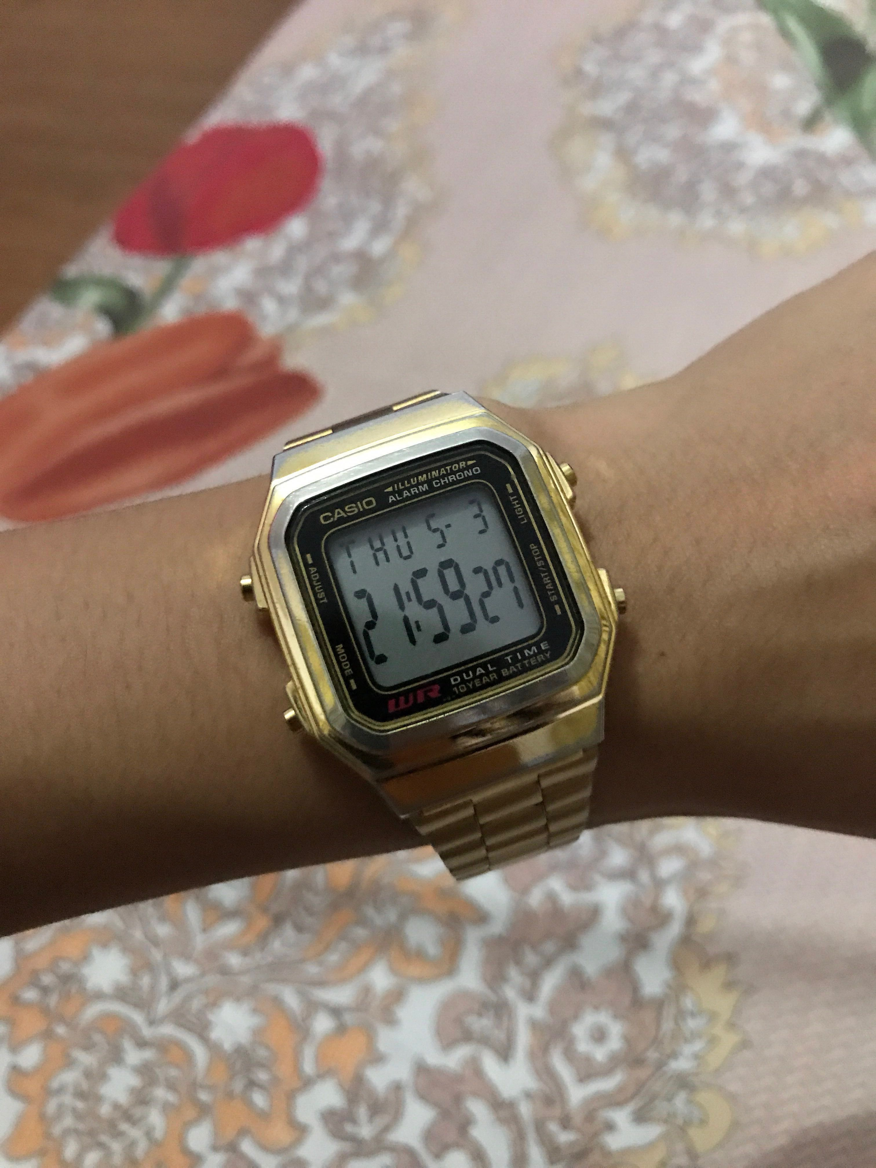 caa67f2e5c78 Casio Vintage A178WGA Gold Plated Watch for Men and Women (still ...