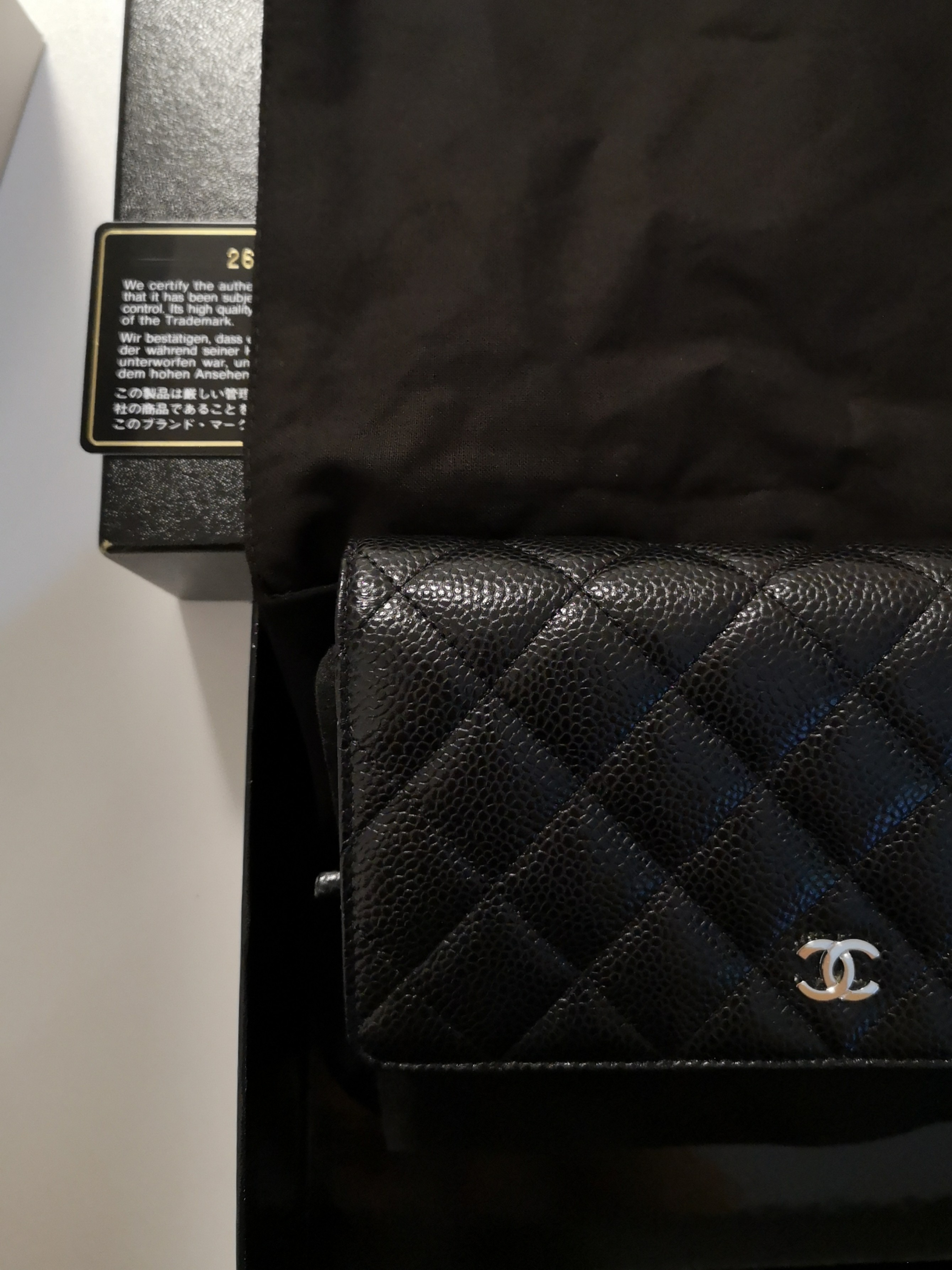 3e7a44400bb4 Chanel Caviar woc (wallet on chain), Luxury, Bags & Wallets, Sling ...