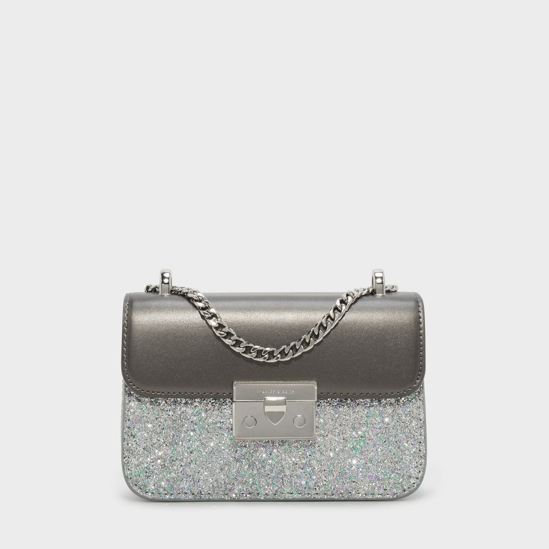 9a794144b016 SALE Charles and keith glitter bag clutch