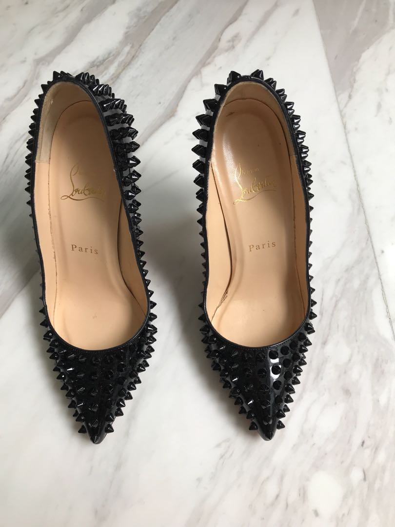 factory price 66252 80fde Christian Louboutin black spike heels