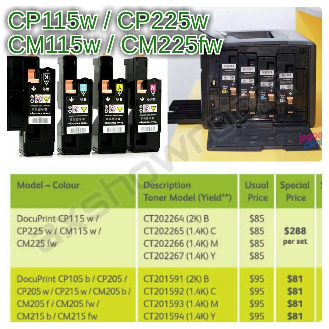 Colour Toner Cartridge For : Fuji Xerox CP115w CP225w CM115w