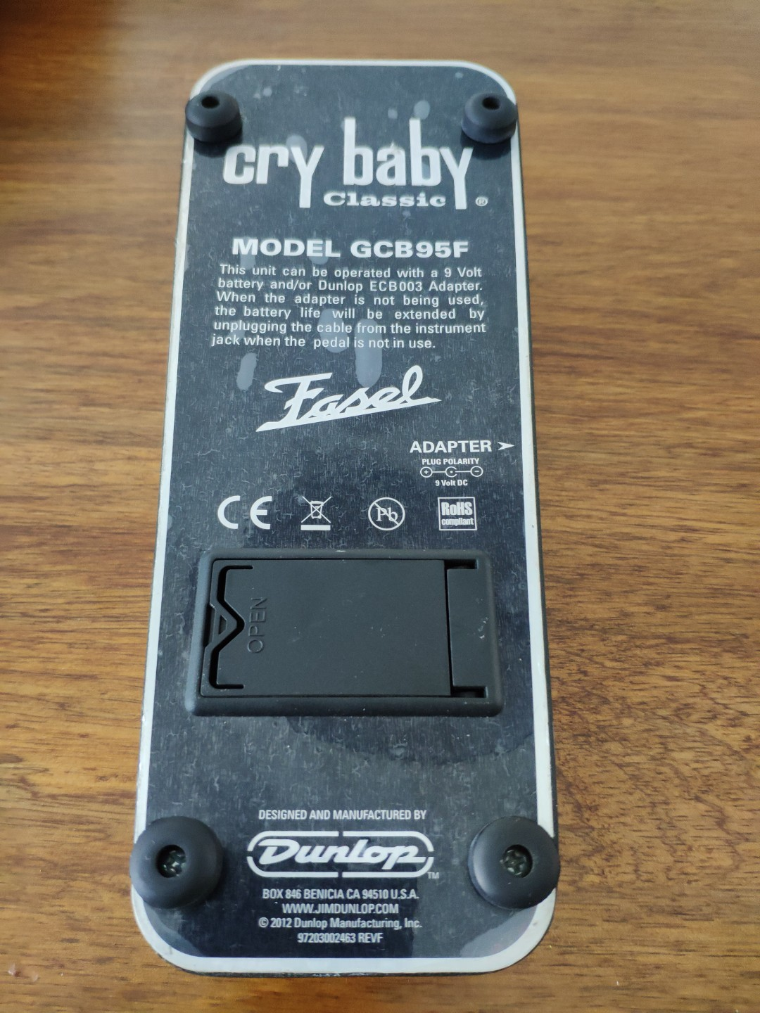 Cry baby Classic Wah Pedal GCB-95F Fasel Crybaby