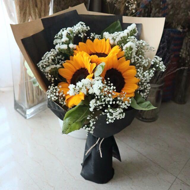 Image result for Sunflowers  bouquet for proposal