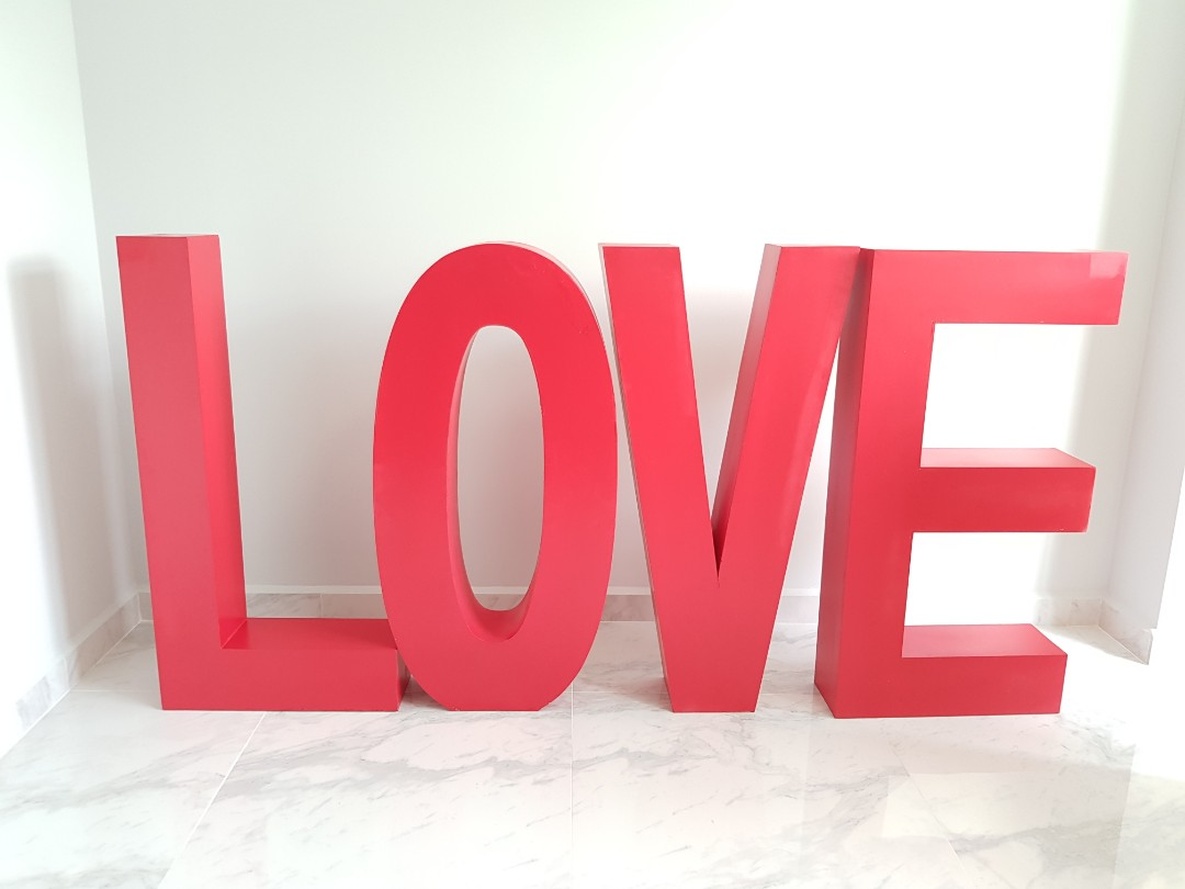 For SALE - Giant LOVE Wedding Props