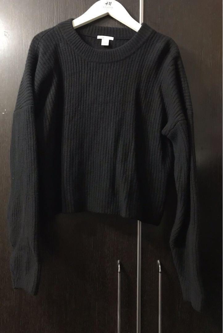 H&M 黑色羊毛冷衫