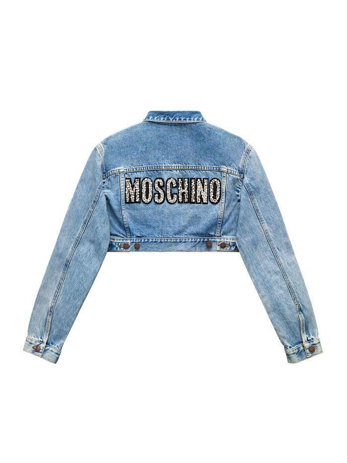 e7b551d73f H M moschino Blue Denim Jacket - size M