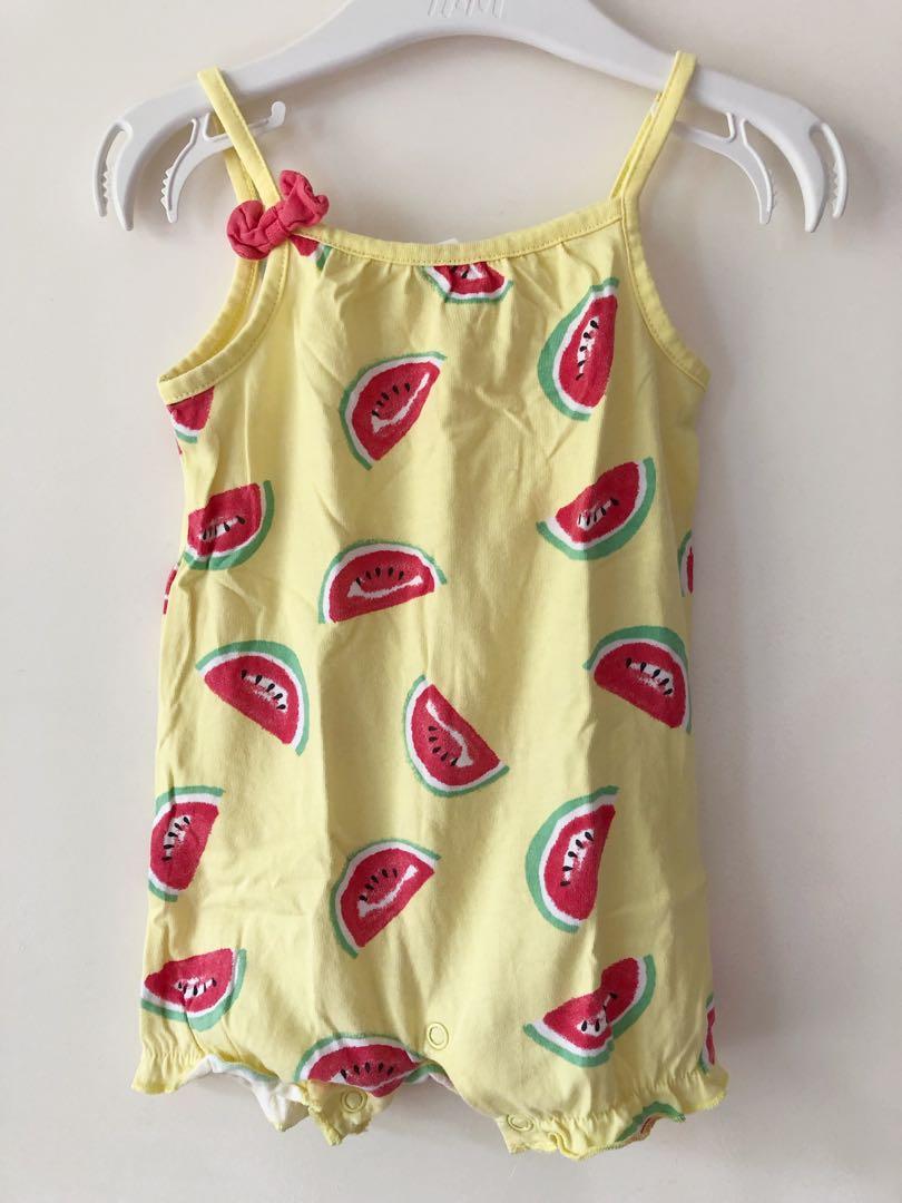 113189d3caaf H&M Watermelon Sleeveless Romper, Babies & Kids, Babies Apparel on ...