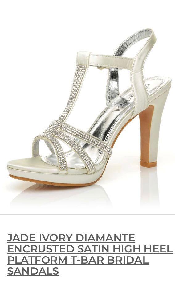 83086f7d2f7 Ivory satin bridal wedding heels