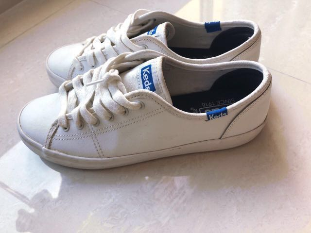 4c5b4478c8f3 Keds kickstart leather white  blue