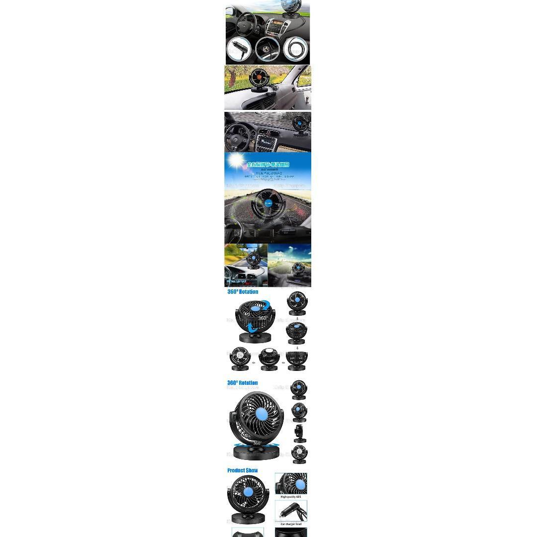 Kibot]360°Rotation 12V Car Dashboard Turbo Single Head