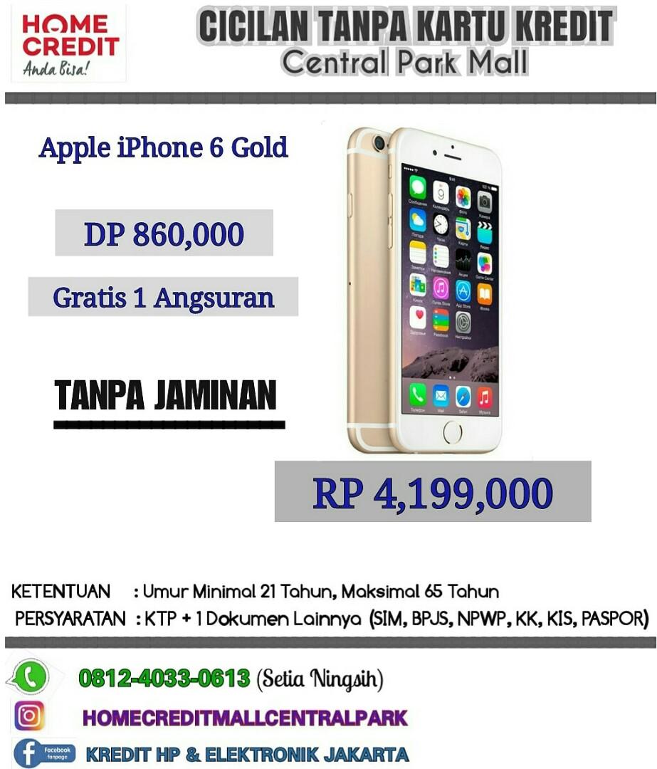 Kredit iPhone 6 Resmi Tanpa Kartu Kredit Jakarta 1856ba1ad1