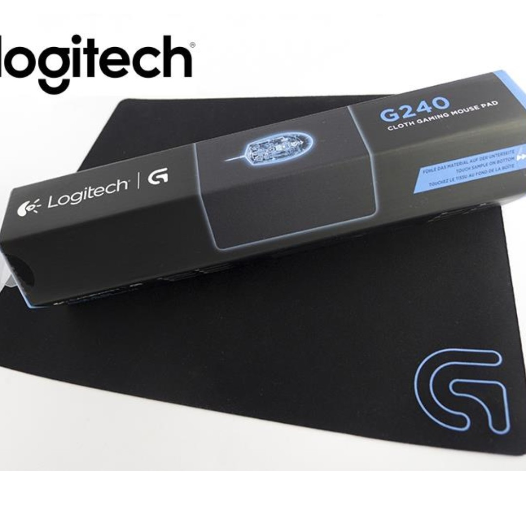 Logitech G240 Cloth Gaming Mouse Pad, Electronics, Computer Parts & Accessories on Carousell