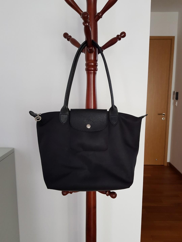 Longchamp Le Pliage Neo - Black   Small   long handle, Luxury, Bags    Wallets, Handbags on Carousell bdf57da2fd