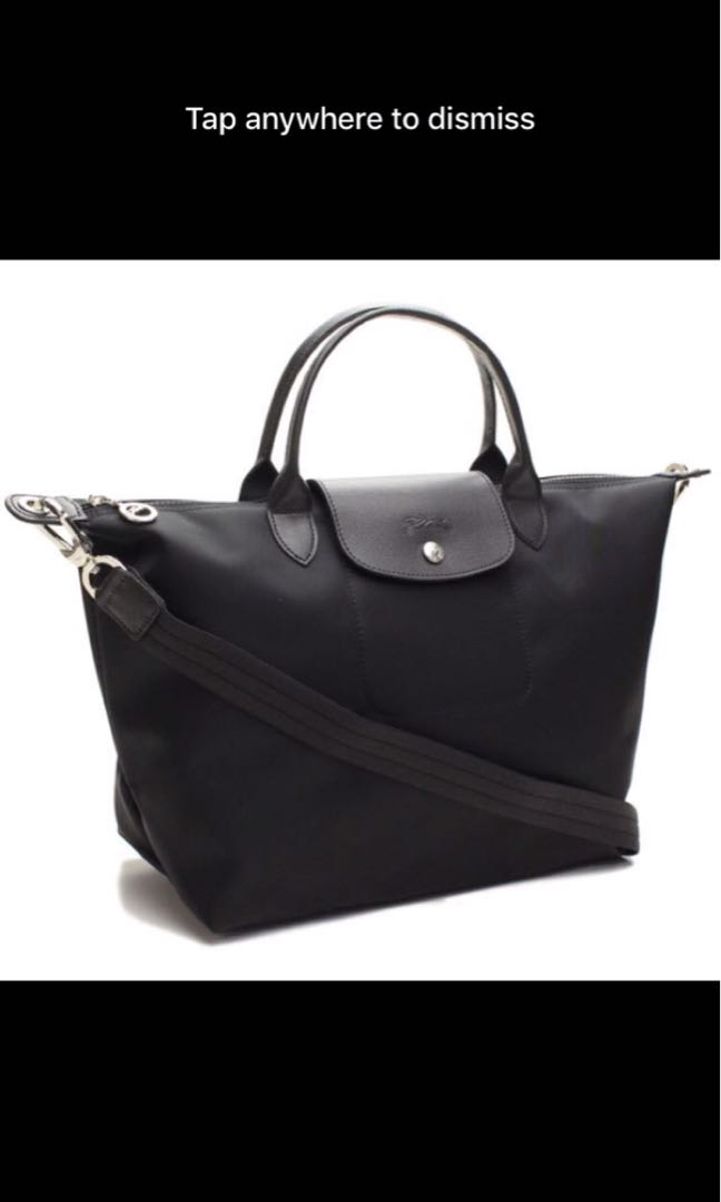 58eb5a41dbd Longchamp medium size black la plaige neo sling bag 1515, Women's ...