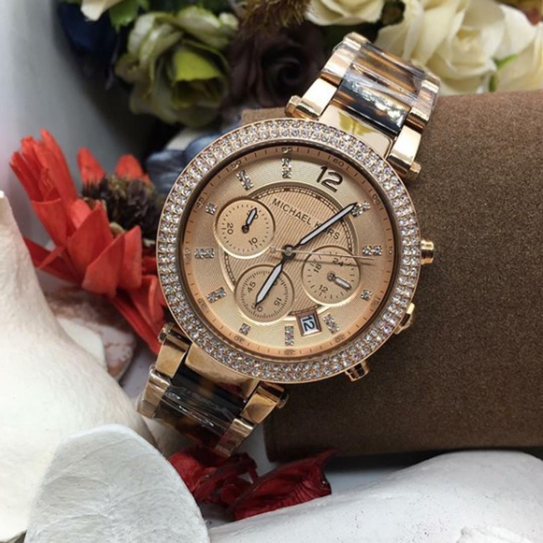 4af8153b22aa Michael Kors Parker Chronograph Rose Dial Women s Watch - MK5538 ...