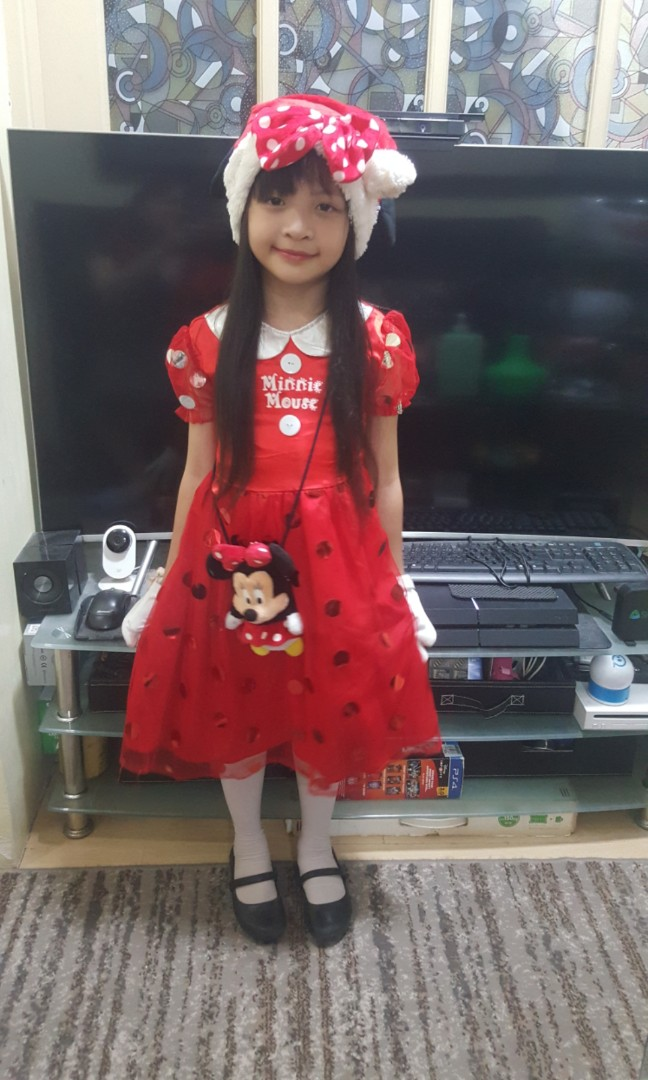 Minnie Mouse Christmas Dress.Minnie Mouse Christmas New Year Outfit Costume