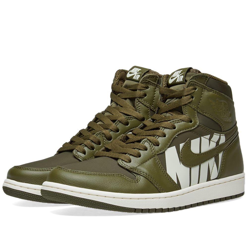 designer fashion 1e342 0f7fa Nike Air Jordan 1 Retro High OG Olive Green