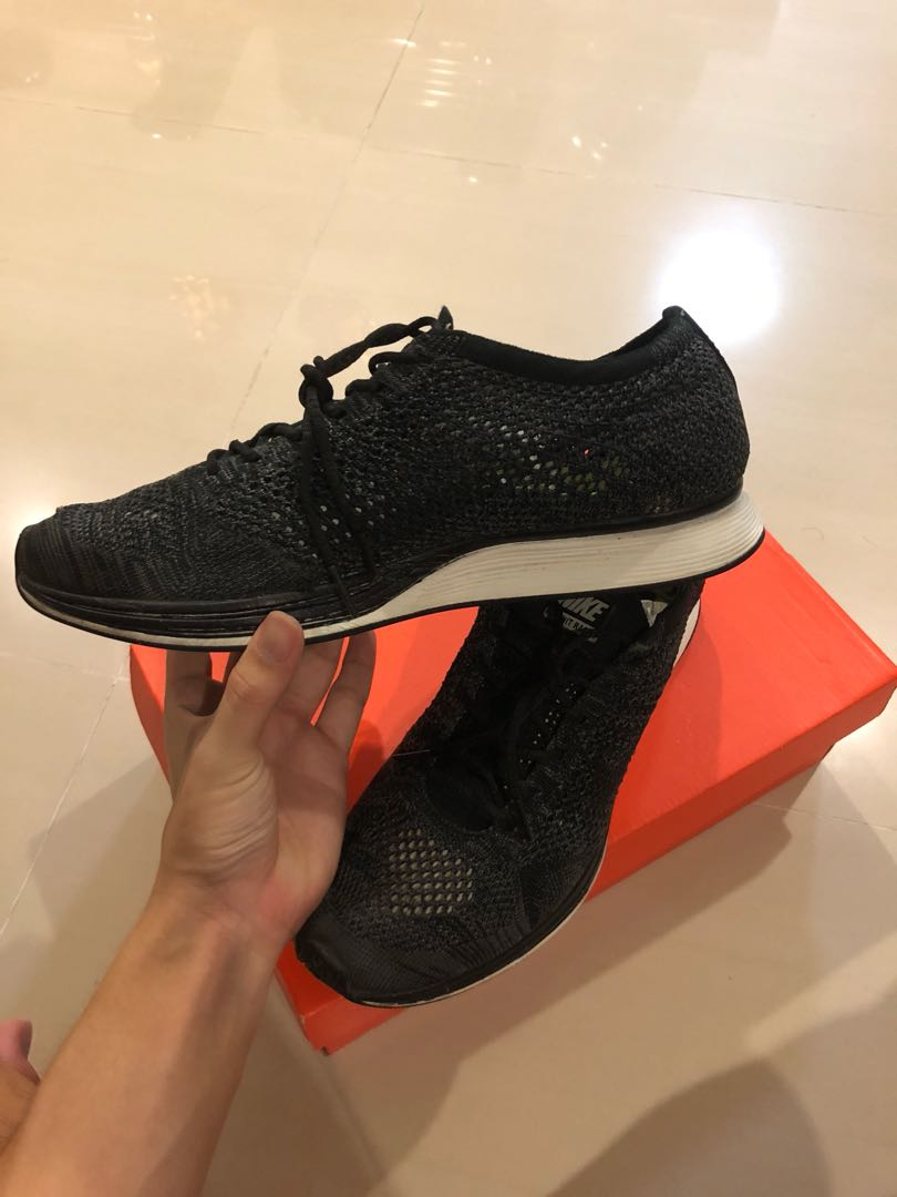 076209abe352 Nike Flyknit Racer Black Out