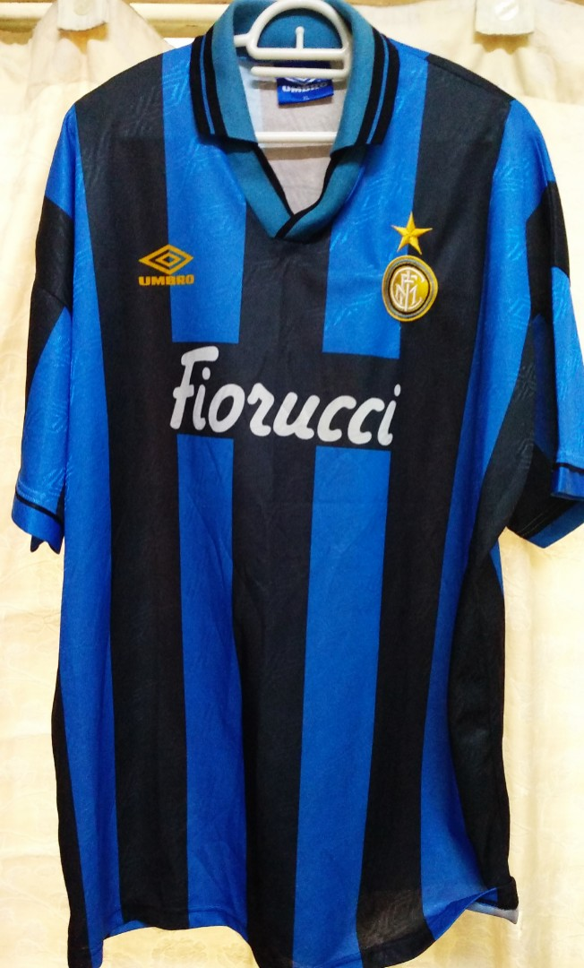 d710e6c07 Original Genuine Authentic Internazionale FC ( Inter Milan FC ) Italian  League SerieA, 1994/95' ( Classical Vintage Collection ) Made in Italy by  Umbro., ...