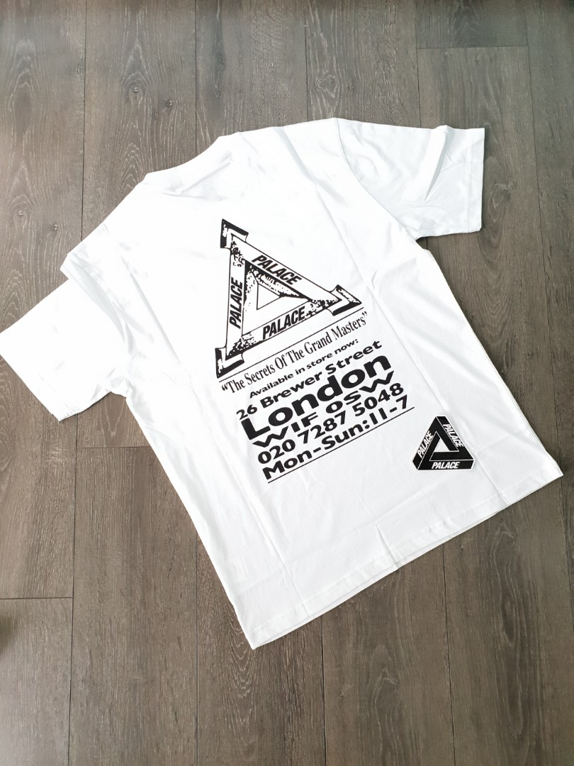 f34d265a Palace Grand Master Tee White Medium, Men's Fashion, Clothes, Tops ...