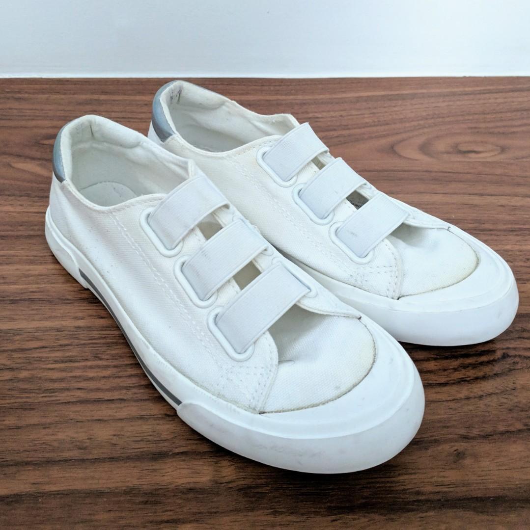 Plain White Sneakers - no laces!, Women