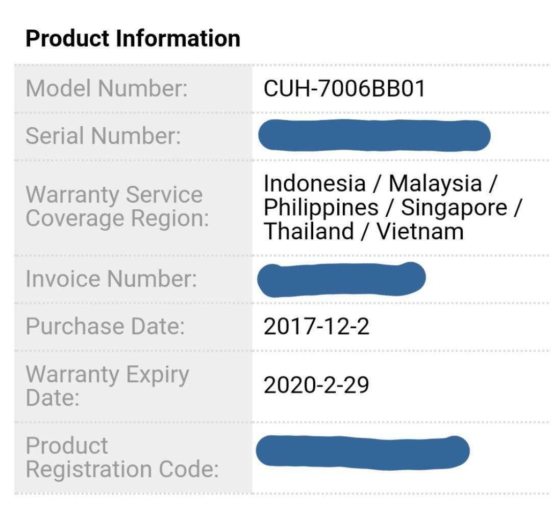 playstation 4 serial number registration