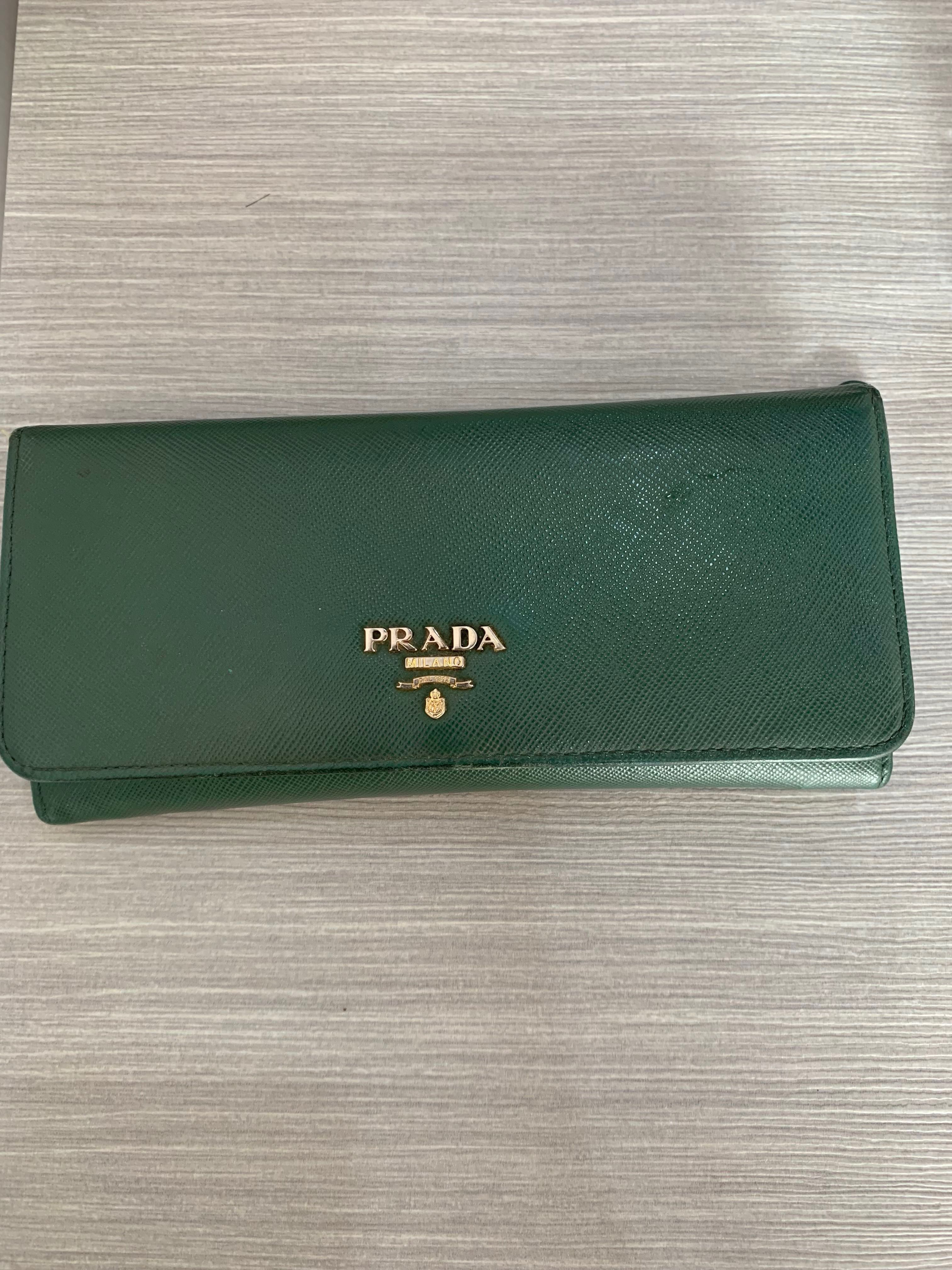 fd230ebb7429 Prada Saffiano Long Wallet, Women's Fashion, Bags & Wallets, Wallets ...