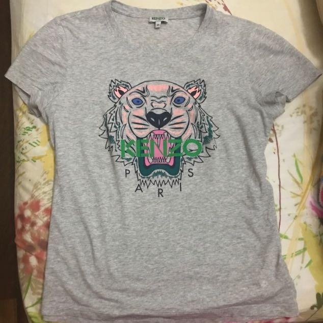 0be82664 Preloved Kenzo Classic Tiger Tshirt Ladies M Grey Pink, Luxury ...