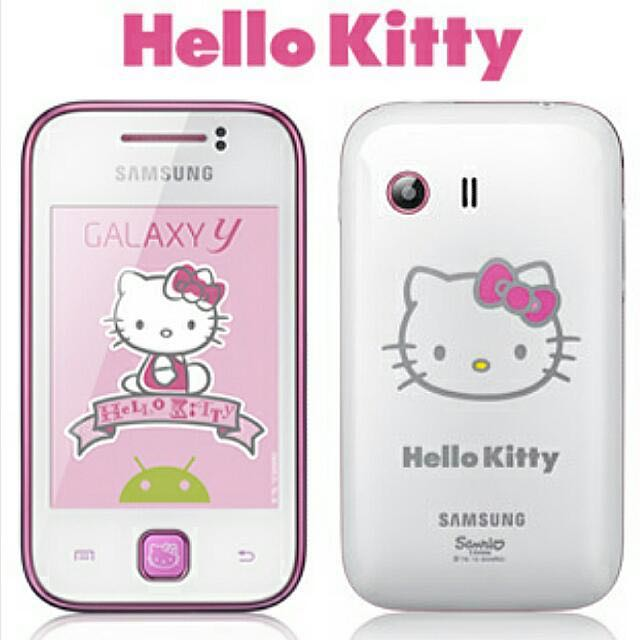 81344d1e5 PRICE REDUCED! Samsung Galaxy Y [Hello Kitty] edition!, Mobile Phones &  Tablets, Android Phones, Samsung on Carousell