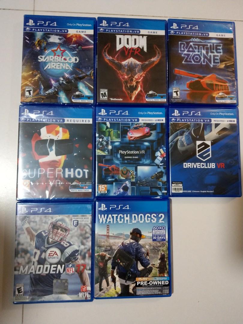 Ps4 Vr Games Superhot Vr Doom Vfr Starblood Arena Toys