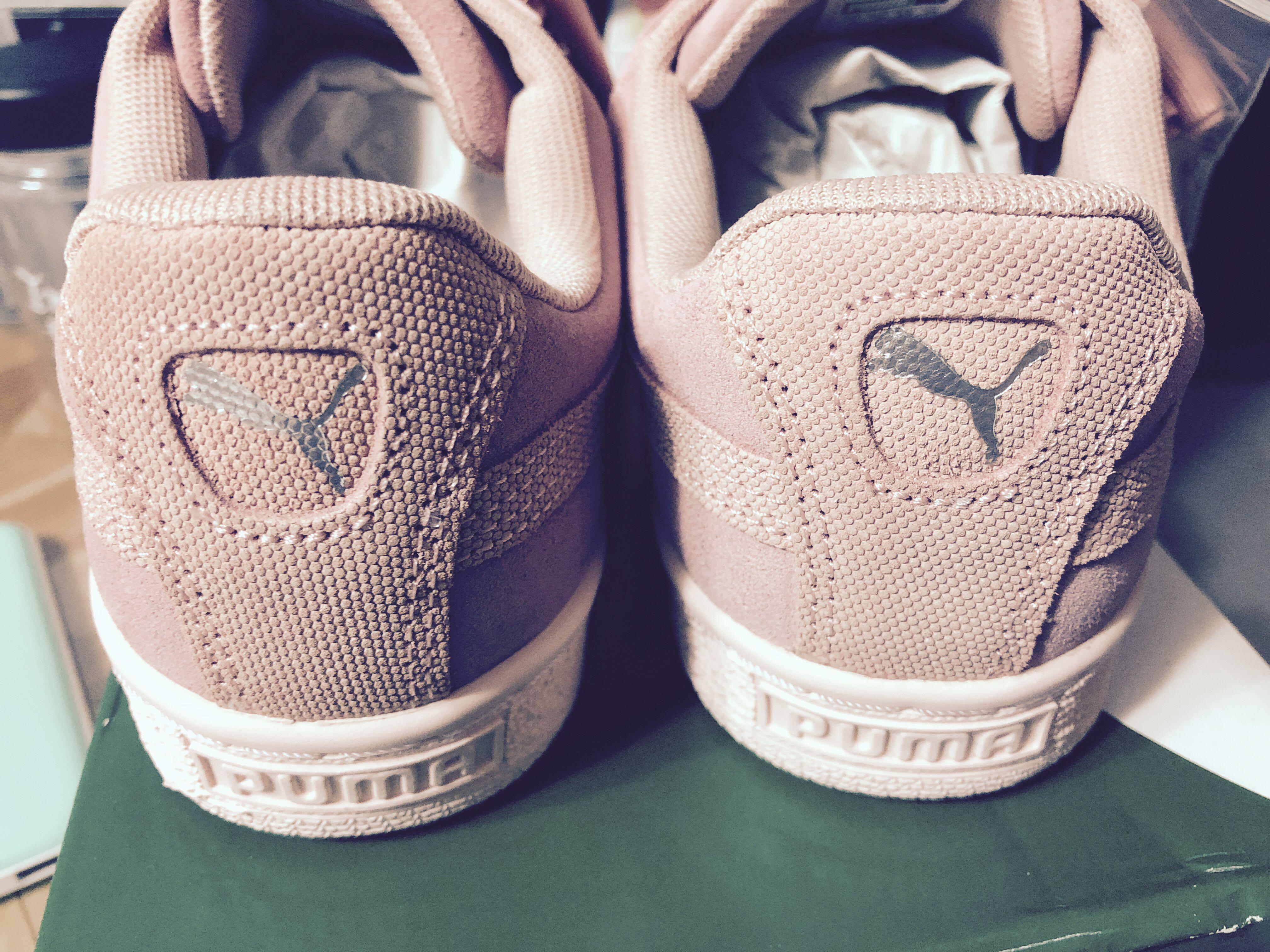 afacfdc7 Puma Suede Heart Pebble Basket, Women's Fashion, Shoes, Sneakers on ...