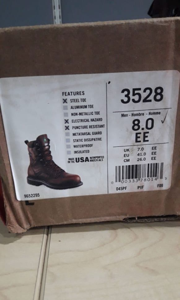 Safety Shoes Red Wing 3528 Original Size 41 f020455b10