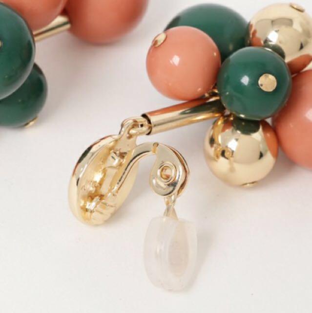 SLY串飾壓克力夾式耳環