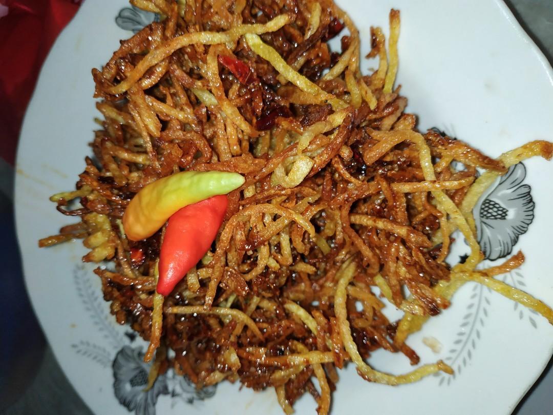 Snack Kentang Caramel Hot Food Drinks Packaged Snacks On