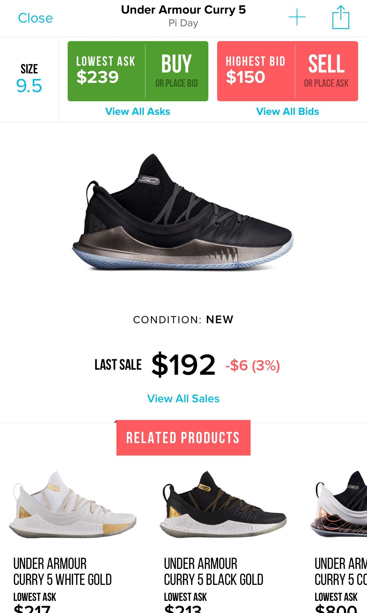 Under Armour Curry 5 Pi Day, Men's