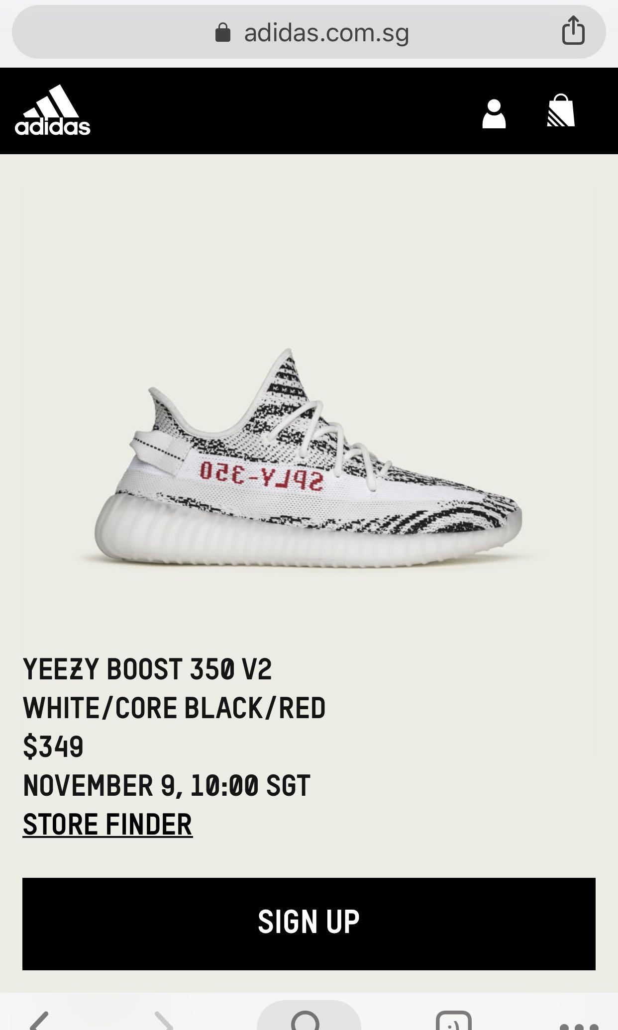 63de674a5 US 10 Yeezy Boost 350 V2 Zebra