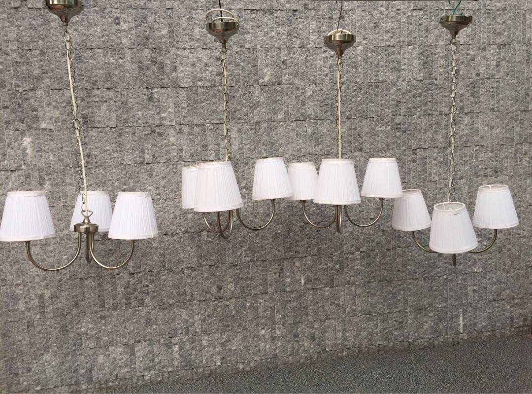 White Textile Shade Pendant Lamp Furniture Home Decor Lighting Supplies On Carousell