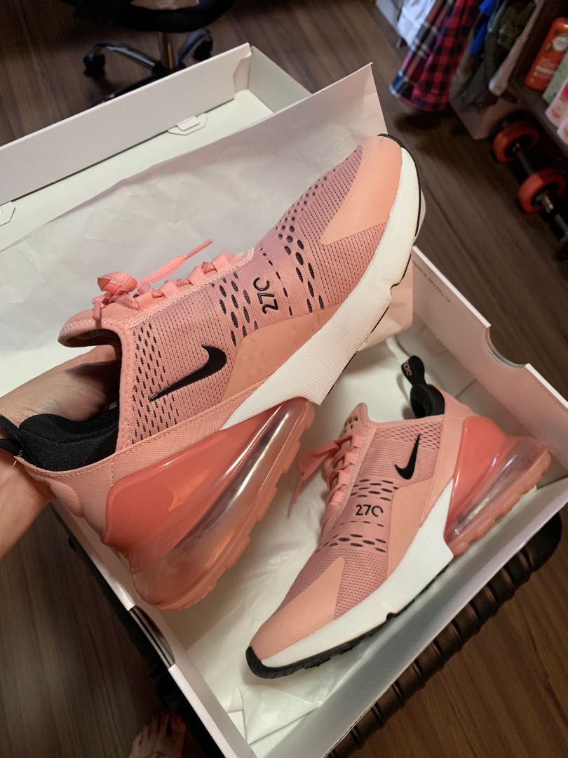 ad0d3342127e Worn Twice Nike Air Max 270 Sneakers Coral Stardust Women s US 10 UK ...