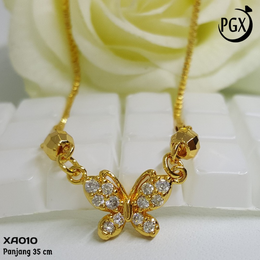 XA10 Kalung Koye Anak Zirconia Aksesoris Perhiasan Xuping Lapis Emas, Women's Fashion, Women's Jewelry on Carousell