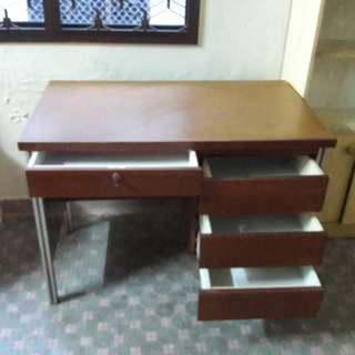 Study Table with locks or Wooden table