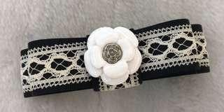 🚚 全新CLATHAS日本小香奈兒立體雙層蝴蝶結蕾絲髮夾