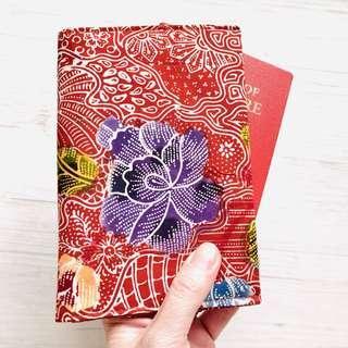Batik Passport Holder Handmade in Singapore