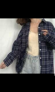 BNWT INSTOCK Checkered Ulzzang Korean Plaid Long Sleeve Flannel/ Top