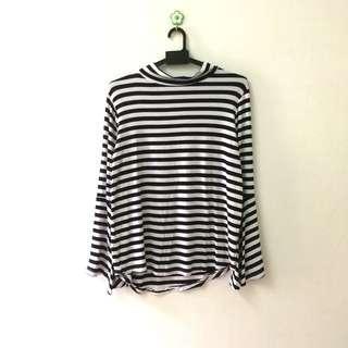 Turtleneck Stripe Shirt