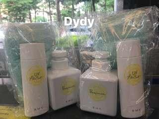 🚚 RMK  清爽沐浴250ml+身體防曬乳70ml+沐浴巾