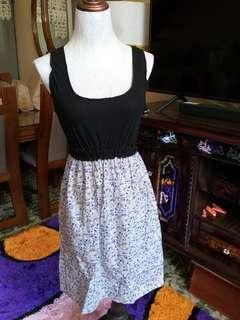 Bkack anf floral dress