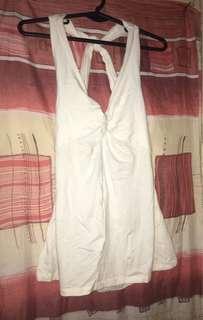 White Cross-Back Blouse