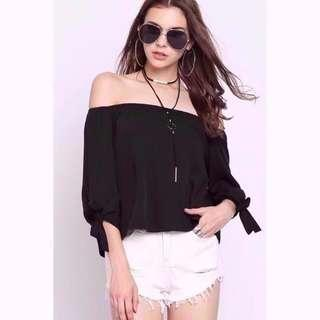 🚚 BN Supergurl Tallulah Off-shoulder Top (Black)