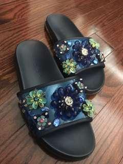 Zara Bejewelled Sandal