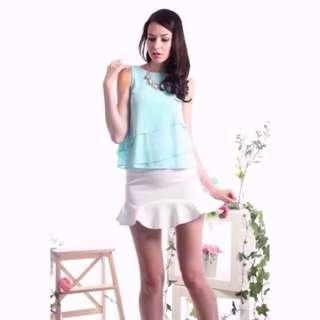 🚚 BN The Stage Walk TSW Niveles Chiffon Tiered Top (Mint)